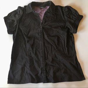 APT. 9 Button-Down Black Short Sleeve - Size 1x